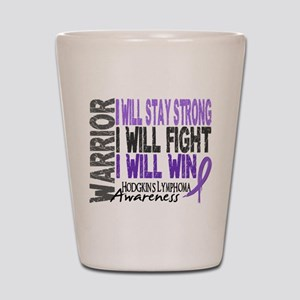 Hodgkin's Lymphoma Warrior Shot Glass
